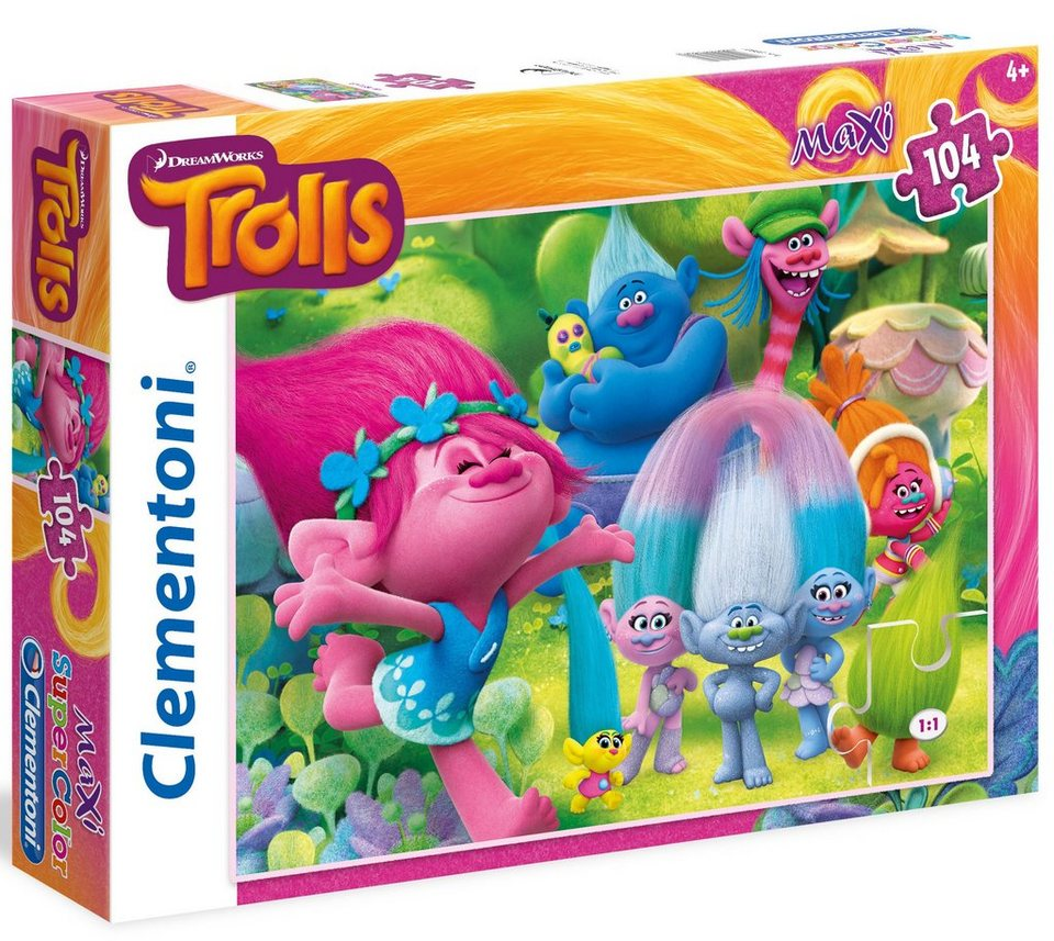 Clementoni Maxi Puzzle, 104 Teile, »DreamWorks Trolls Good Times«