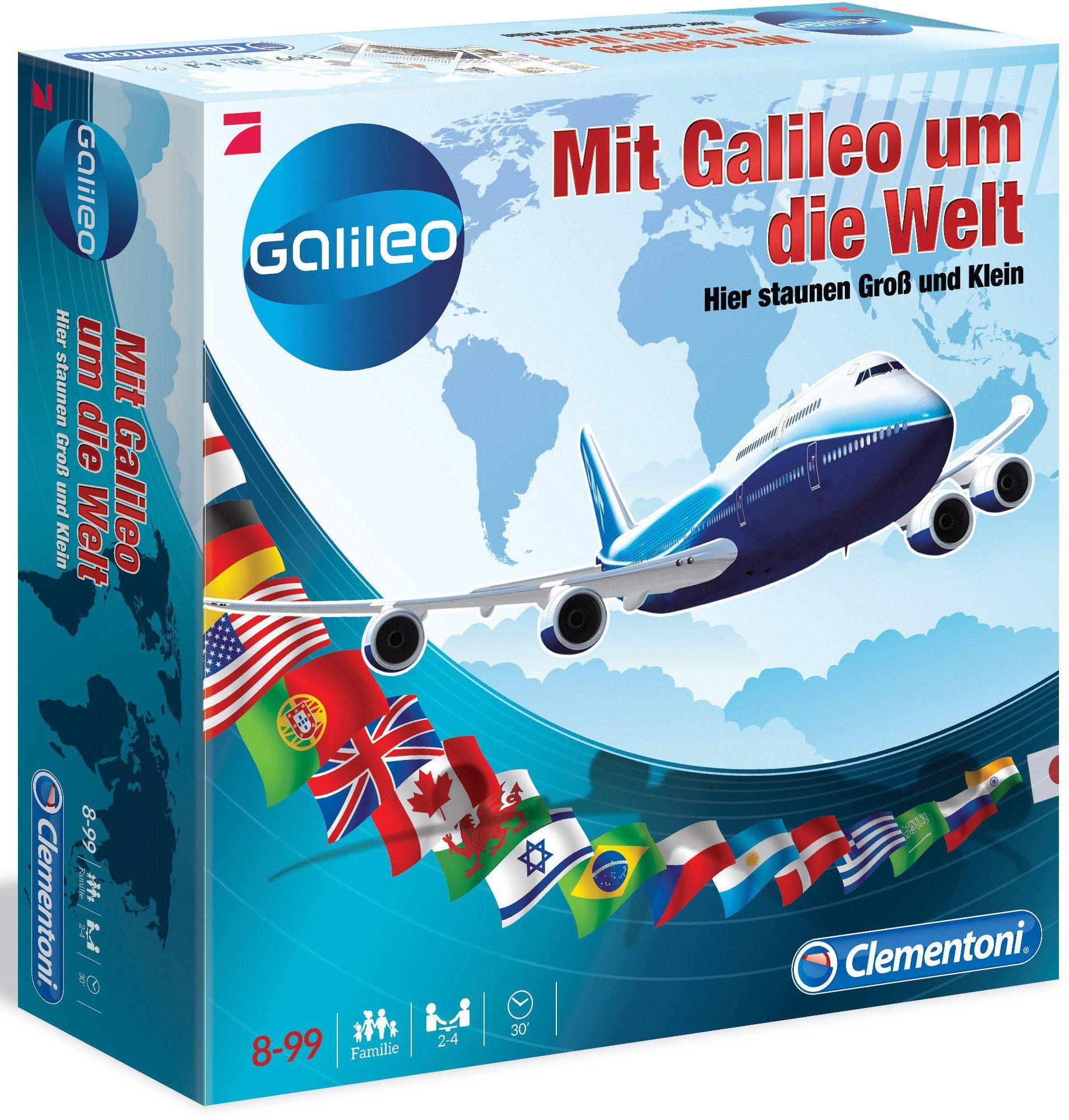Clementoni Quizspiel, »Mit Galileo um die Welt«