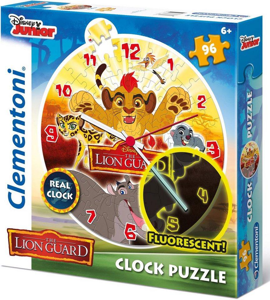 Clementoni Fluoreszierende Puzzleuhr, 96 Teile, »Disney Junior The Lion Guard«