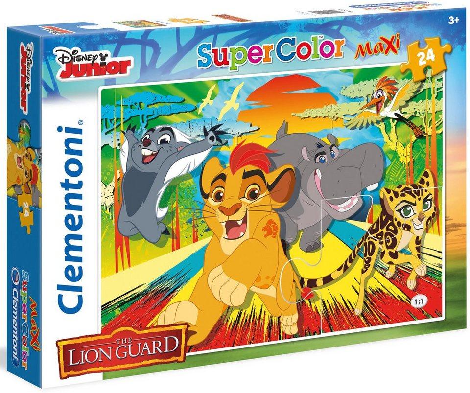 Clementoni Maxi Puzzle, 24 Teile, »Disney Junior The Lion Guard Epic roar«