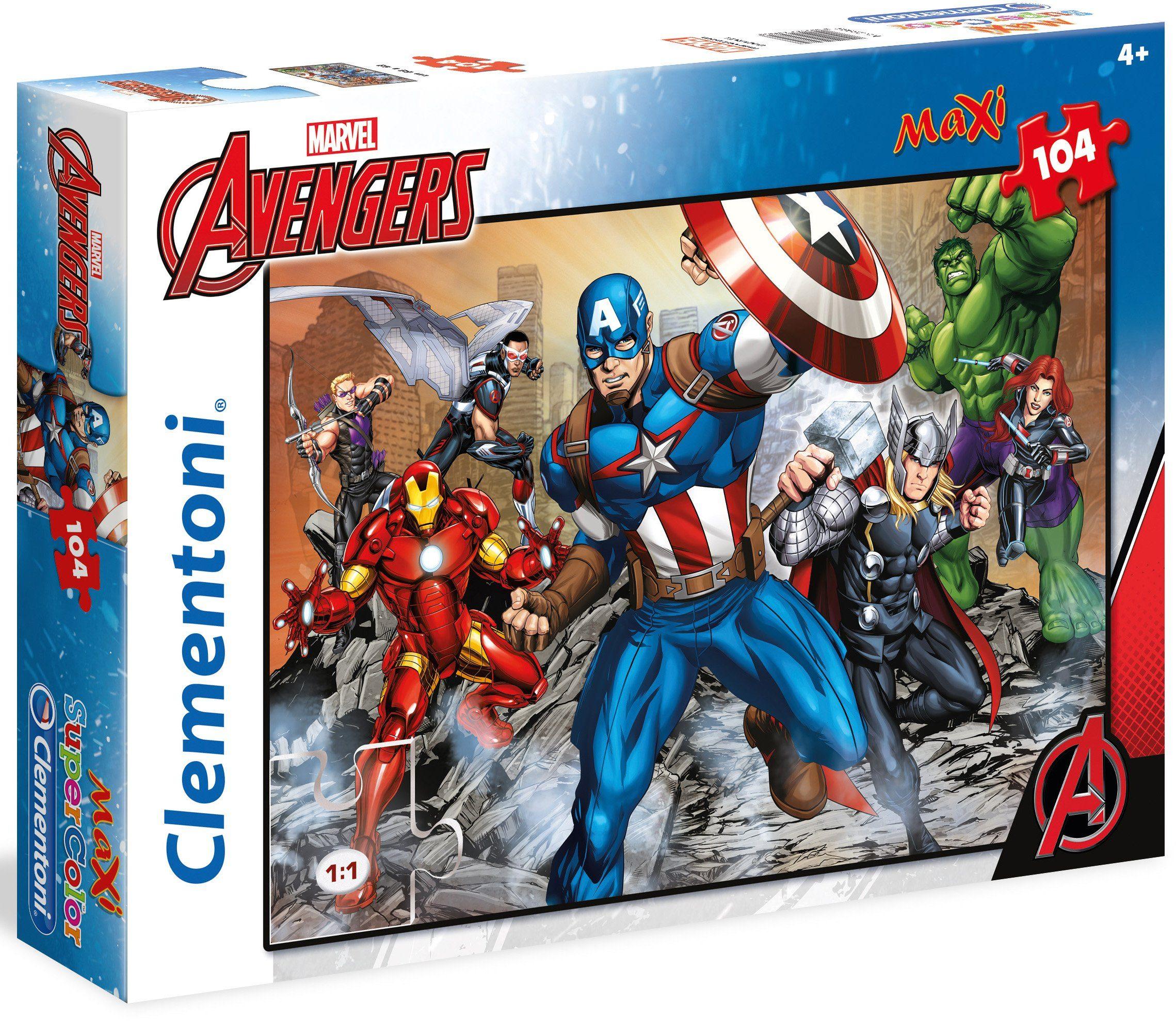 Clementoni Maxi Puzzle, 104 Teile, »Marvel The Avengers«