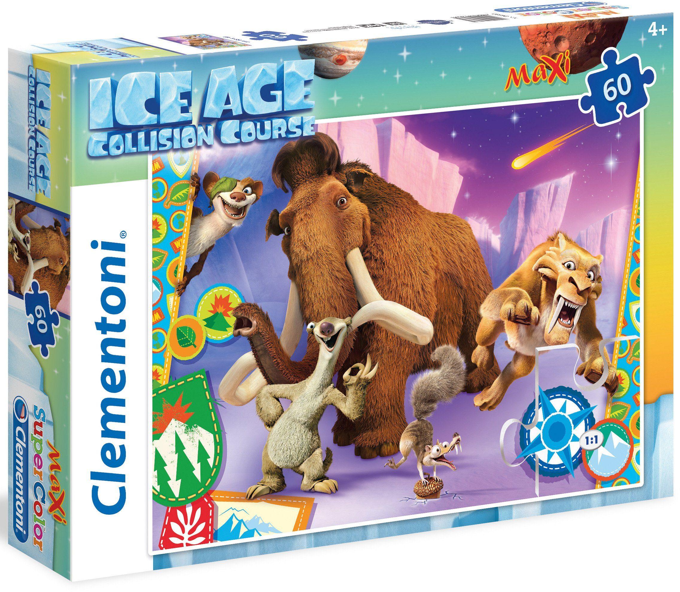 Clementoni Maxi Puzzle, 60 Teile, »Ice Age Collision Course«
