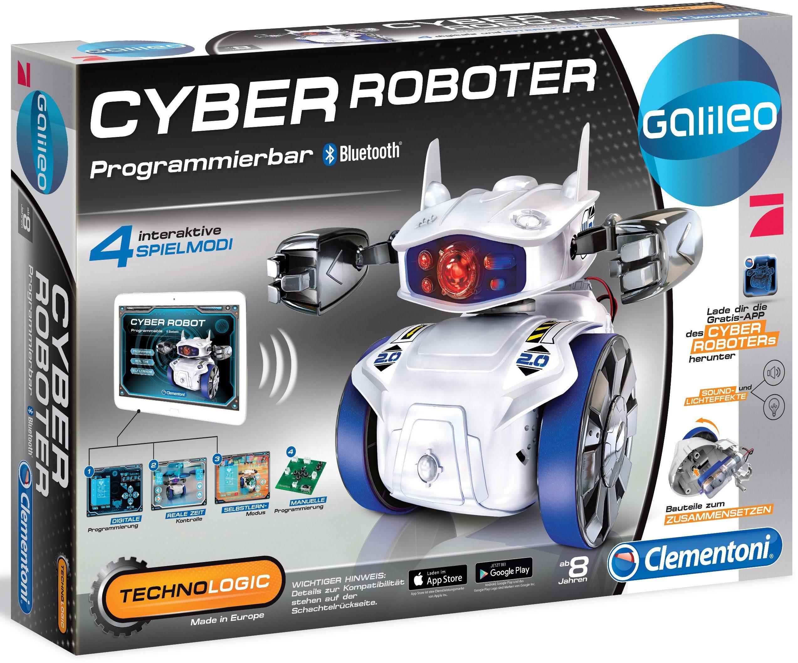 Clementoni Elektronisches Spielzeug mit Licht- und Soundeffekten, »Cyber Roboter«