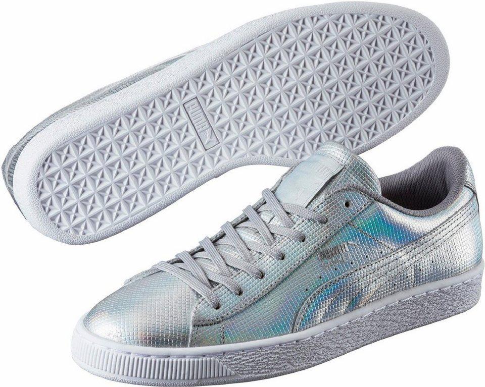 PUMA »Basket« Sneaker in silberfarben