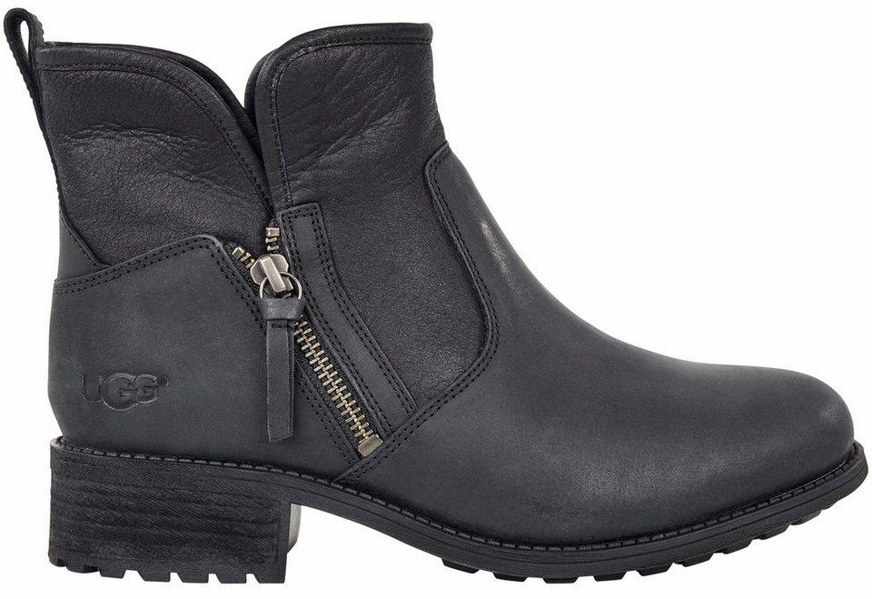 UGG »LaVela« Winterstiefelette mit tollem Zipperdetail in schwarz