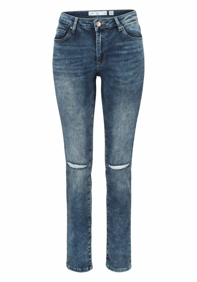Q/S designed by High-waist-Jeans »Mobi« im modernen High-Waist-Style in denim
