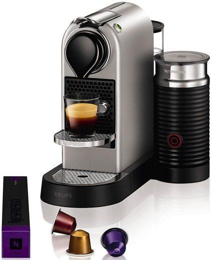 Nespresso Kapselmaschine NESPRESSO XN760B CitiZ&milk, mit Aeroccino Milchaufschäumer