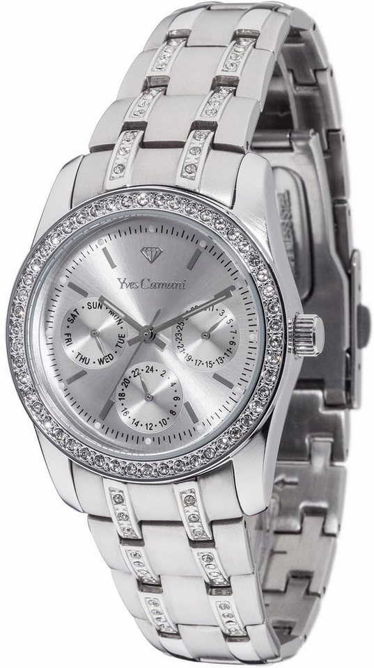 Yves Camani Multifunktionsuhr »MIELLE Multifunction Silver, YC1069-A« in silberfarben