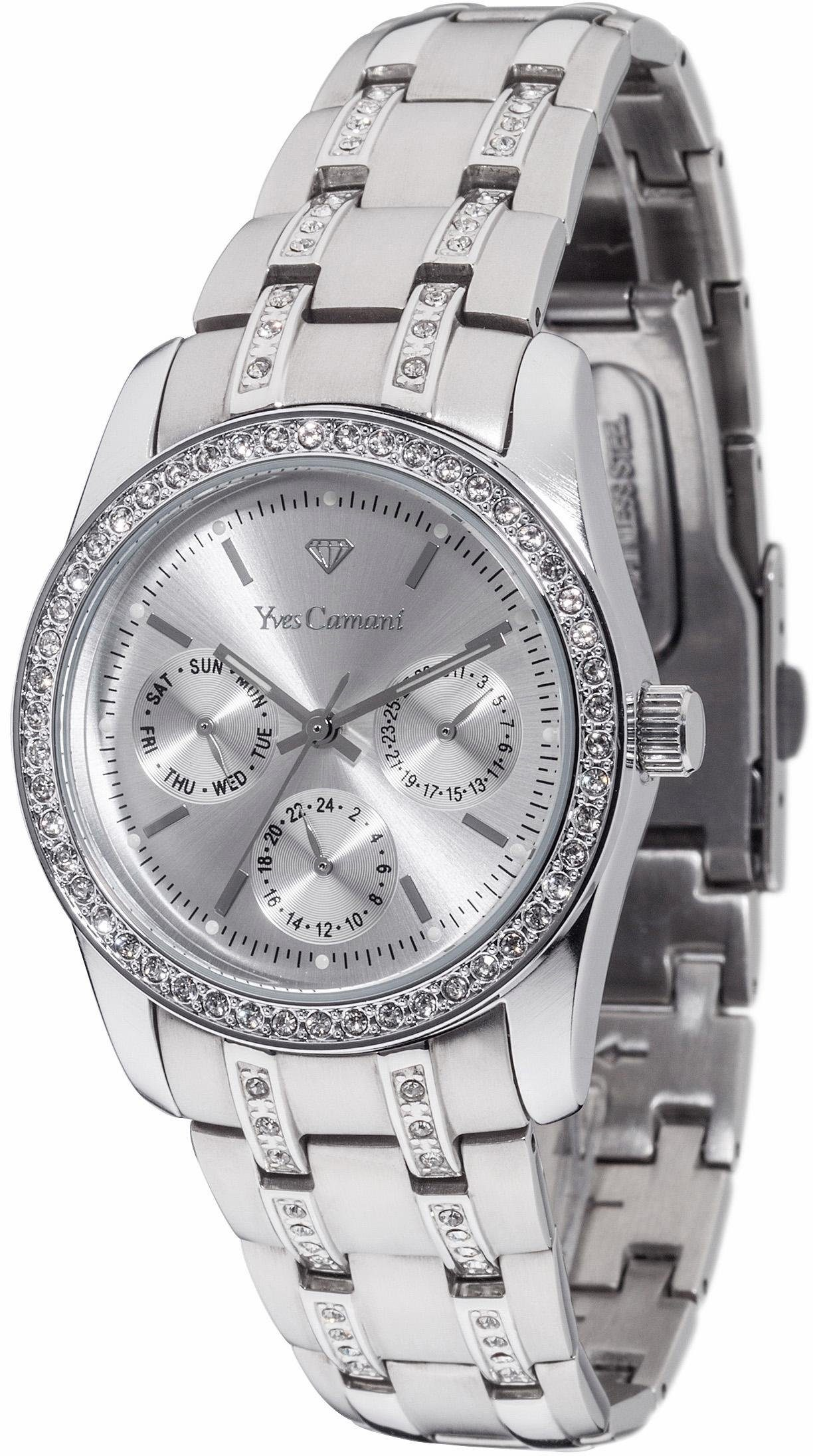 Yves Camani Multifunktionsuhr »MIELLE Multifunction Silver, YC1069-A«