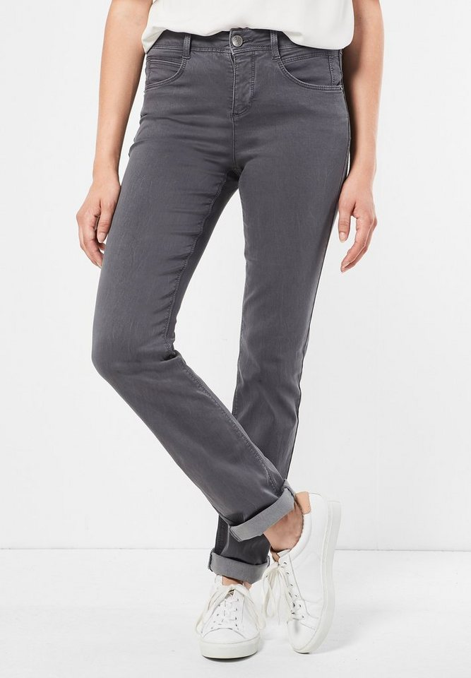 Street One Denim mit High Waist Enn in pride grey