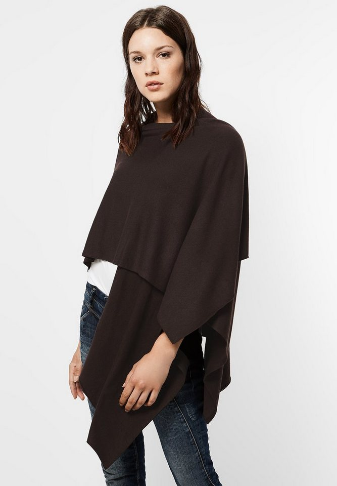 Street One Offener Poncho Mona in chocolate brown