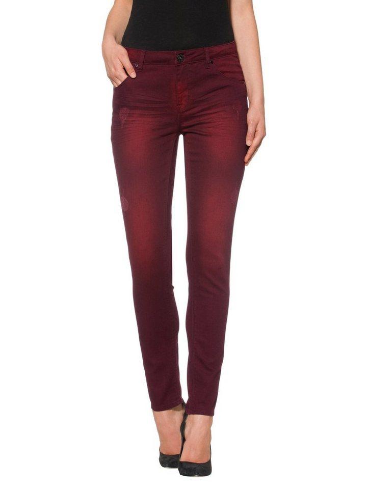 Alba Moda Jeans in bordeaux