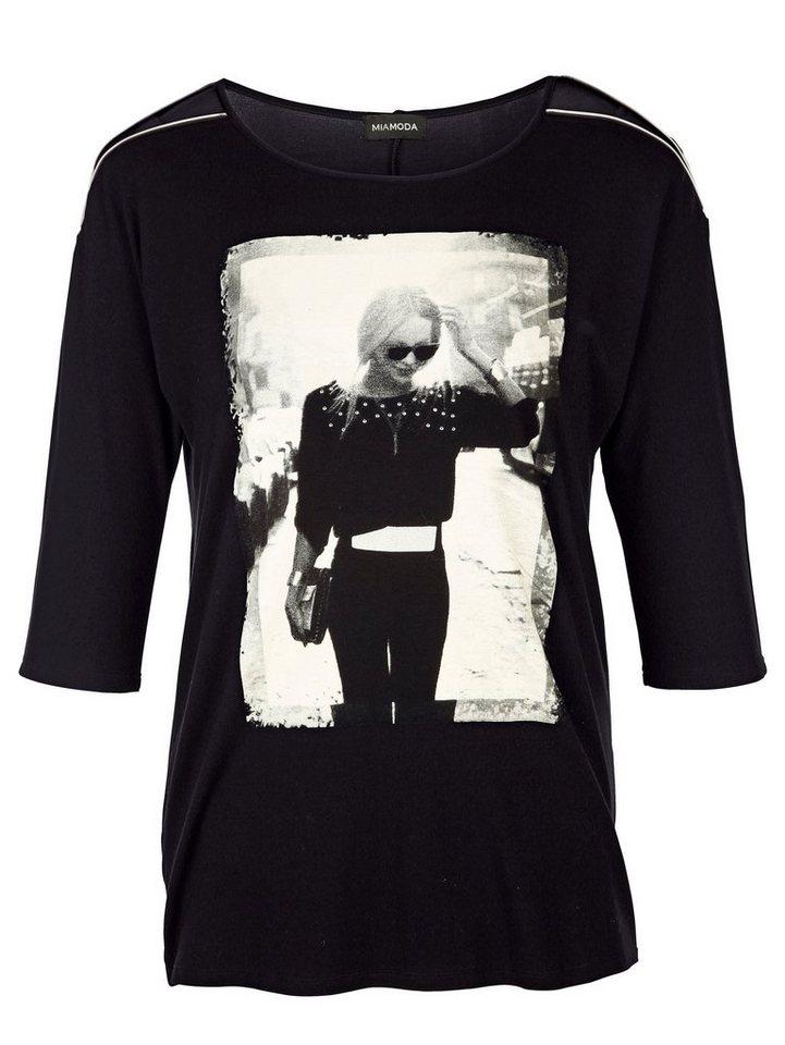 MIAMODA Shirt in schwarz/weiß