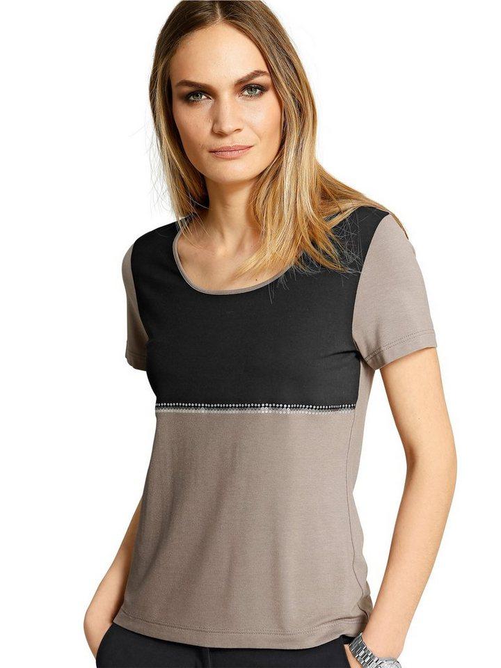 Alba Moda Shirt in schwarz/taupe