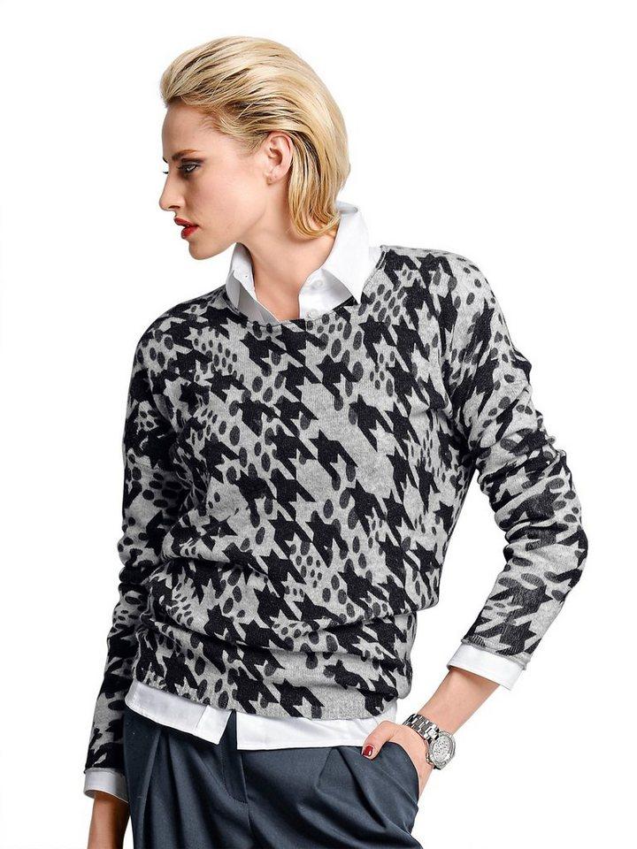 Alba Moda Pullover in grau/anthrazit