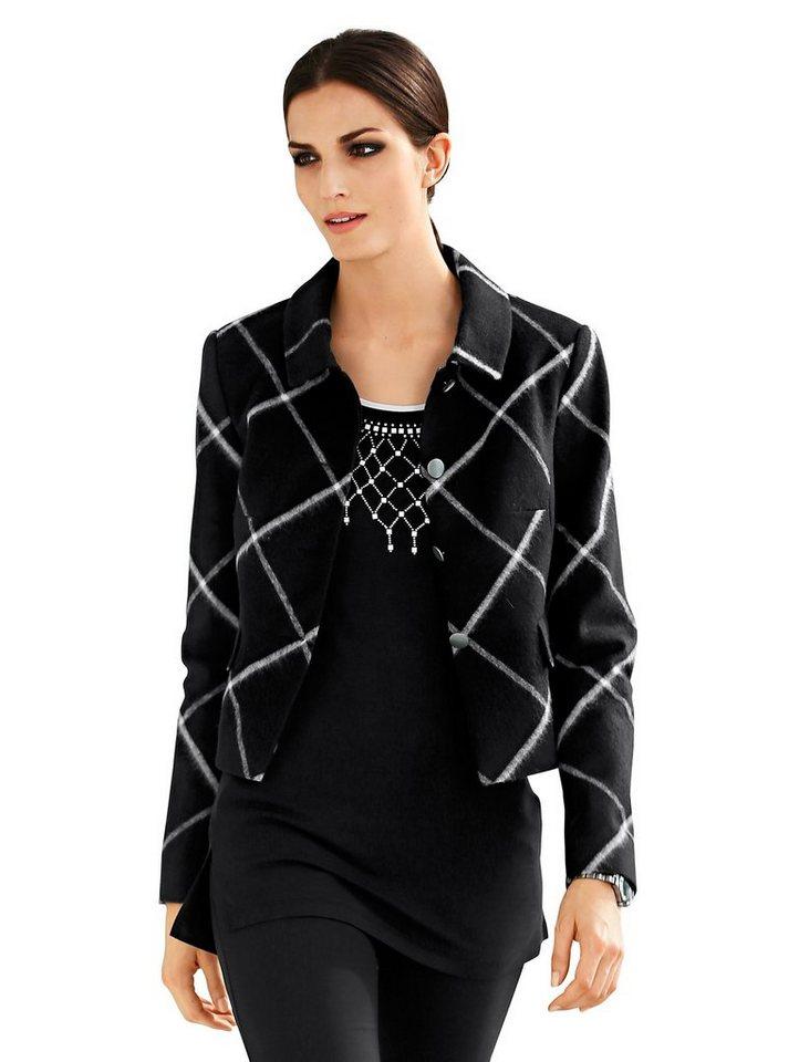 Alba Moda Jacke in schwarz/weiß
