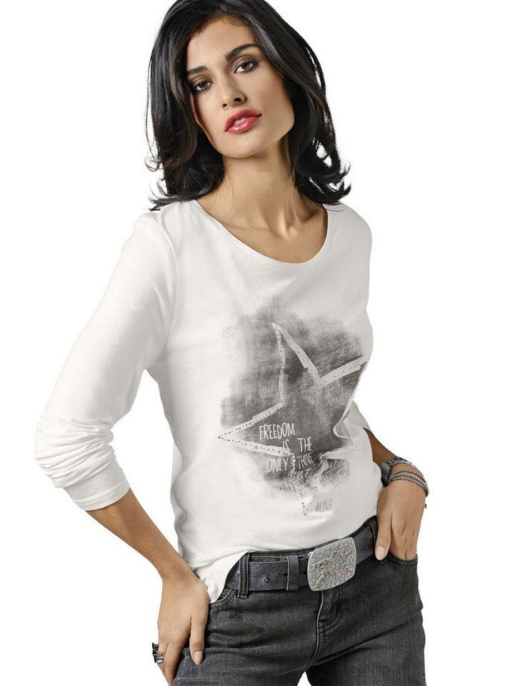 Alba Moda Shirt in offwhite/grau