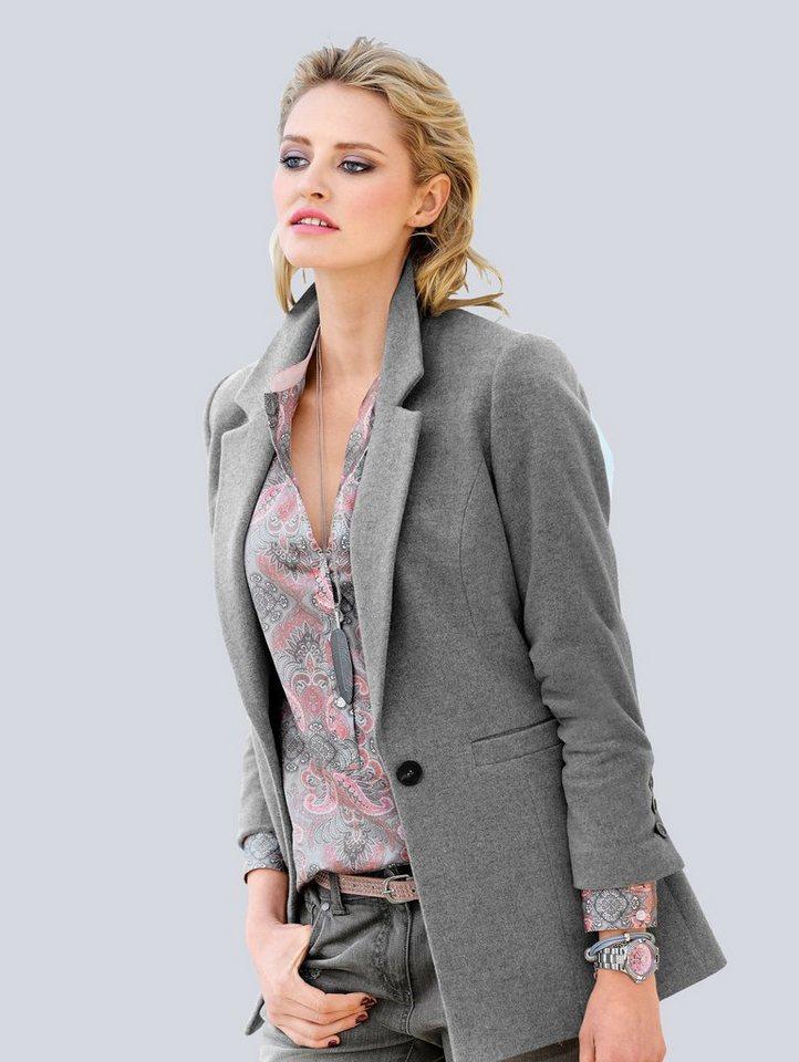 Alba Moda Blazer in grau/melange