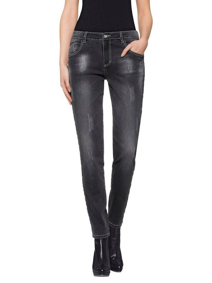 Alba Moda Jeans in anthrazitgrün