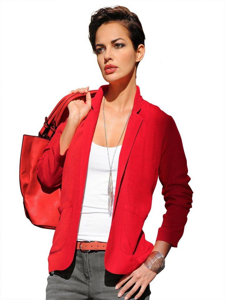 Alba Moda Blusenblazer in rot