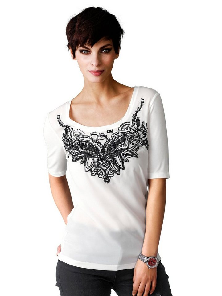 Alba Moda Shirt in weiß/schwarz