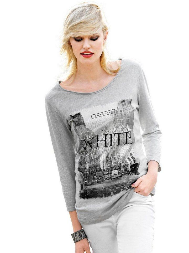 Alba Moda Druckshirt in silberfarben