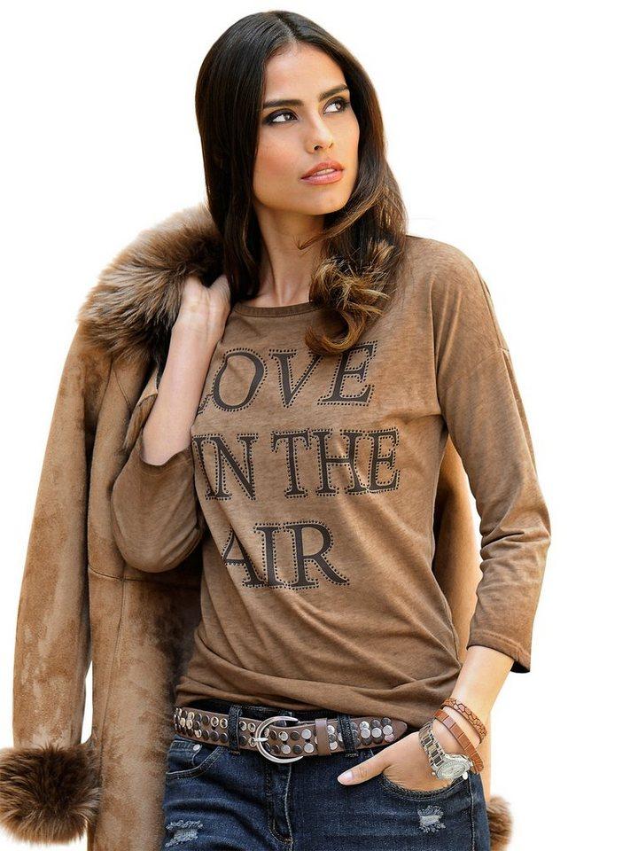 Alba Moda Shirt in taupe
