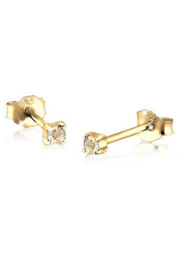 Elli Ohrringe »Basic Swarovski® Kristalle 925 Silber«
