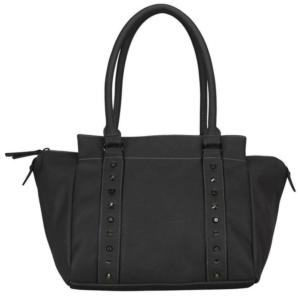 tom tailor denim tess handtasche 29 cm in schwarz. Black Bedroom Furniture Sets. Home Design Ideas