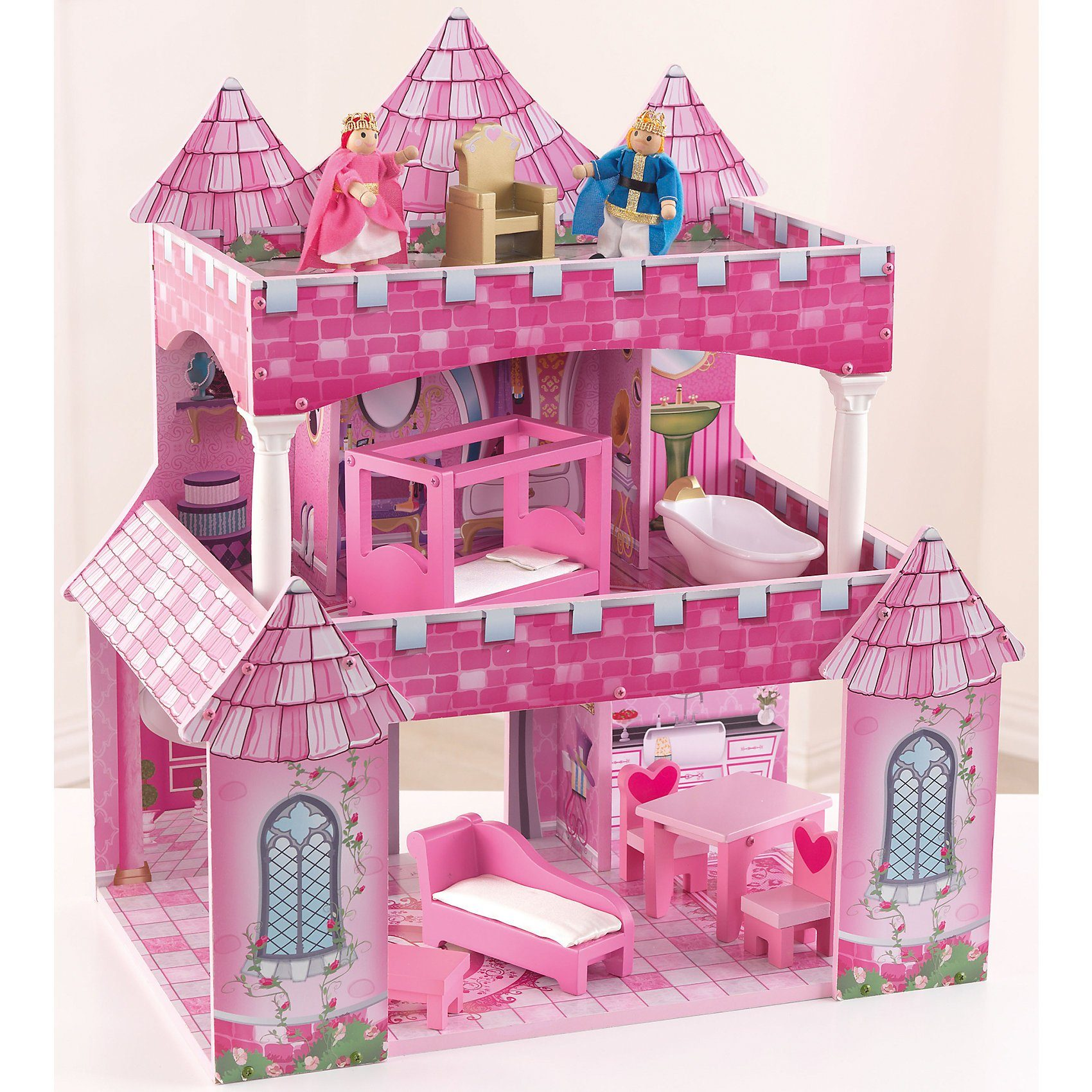 KidKraft Exklusiv Puppenhaus Princess inkl. Zubehör und Puppen