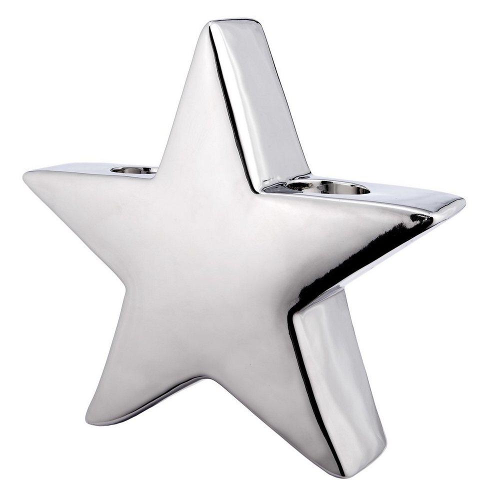BUTLERS SILVER STONE »Teelichthalter Stern groß« in silber