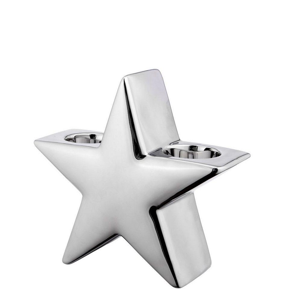 BUTLERS SILVER STONE »Teelichthalter Stern klein« in silber