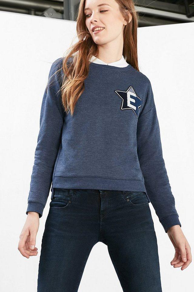 ESPRIT CASUAL Sweatshirt mit Typo-Design in NAVY