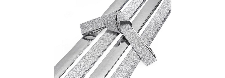 "Papierstreifen ""Glitter, silber"", 15 mm"