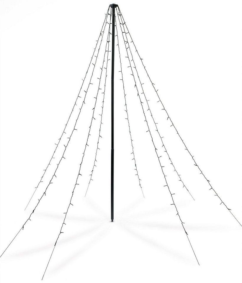 CHRISTmaxx LED-Lichterpyramide 2m 4,5V grün in schwarz