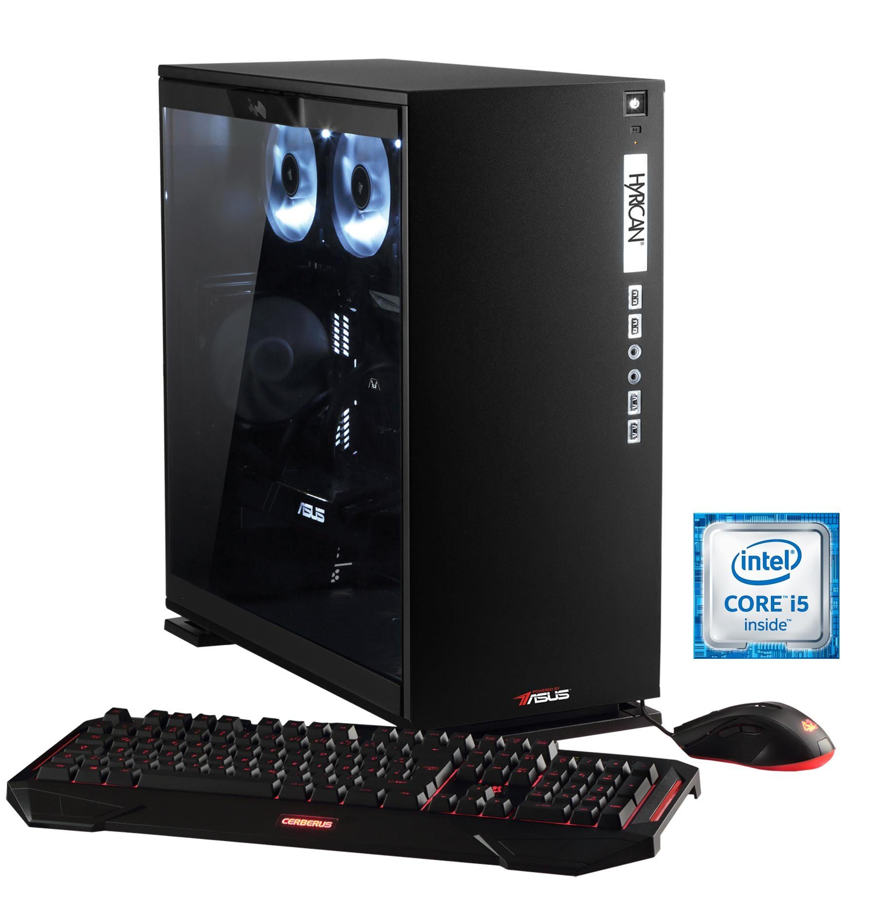 Hyrican Gaming PC Intel® i5-6600K, 16GB, GeForce GTX® 1070 »Elegance 5310 noir - powered by ASUS«