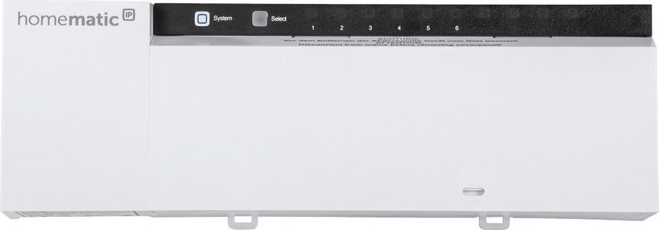 Homematic IP - Smart Home - Energie & Komfort »Fußbodenheizungsaktor - 6-fach, 230V« in weiss