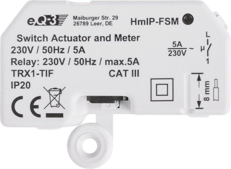 Homematic IP - Smart Home - Licht & Komfort »Schalt-Mess-Aktor - Unterputz« in weiss