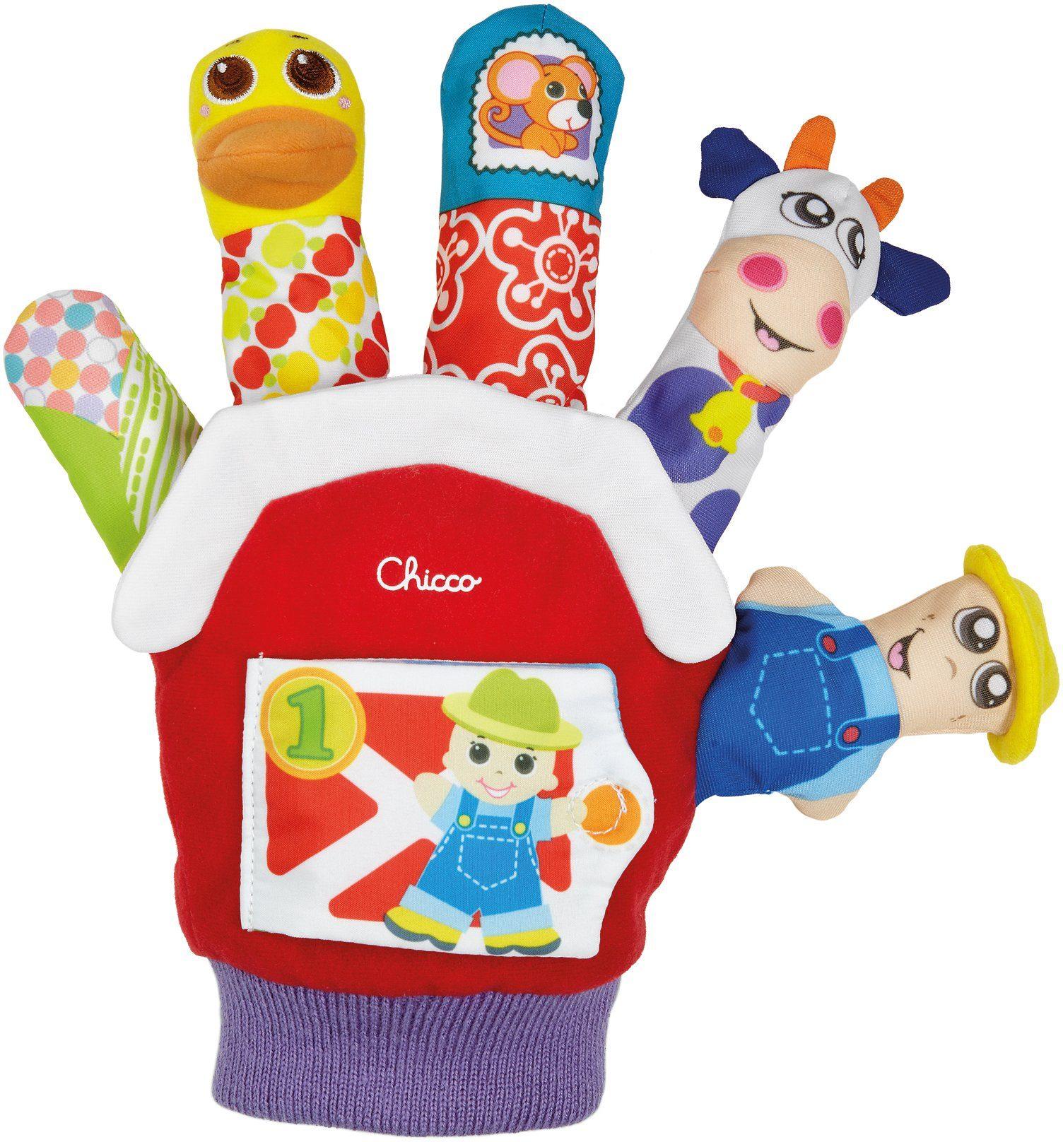 Chicco® Greiflinge mit Quietsche, Knistereffekt und Rassel, »Baby Senses Spielhandschuh«