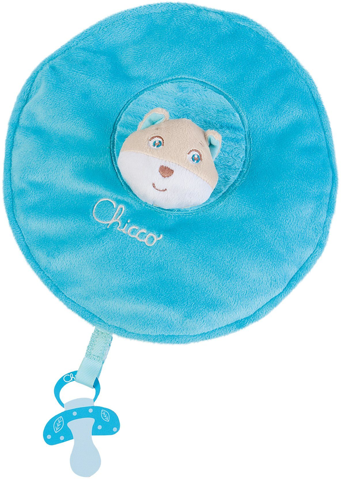 Chicco® Schmusetuch, Ø ca. 14 cm, »First Dreams Fuchs, Blau«