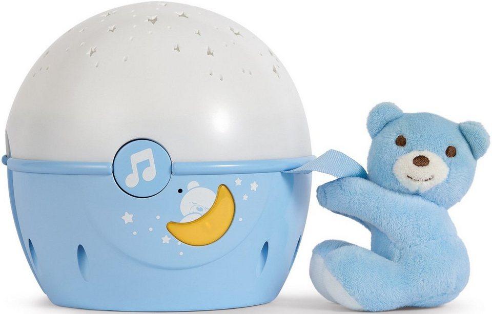 Chicco® 2in1 Projektor mit Soundfunktion, »First Dreams Next 2 Stars Nachtlicht, Hellblau« in Hellblau