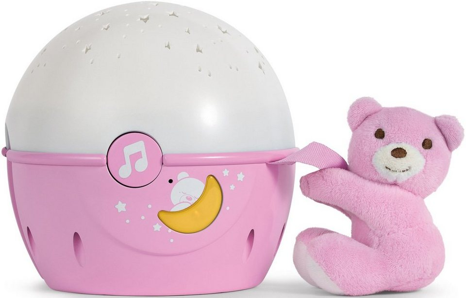 Chicco® 2in1 Projektor mit Soundfunktion, »First Dreams Next 2 Stars Nachtlicht, Rosa« in Rosa
