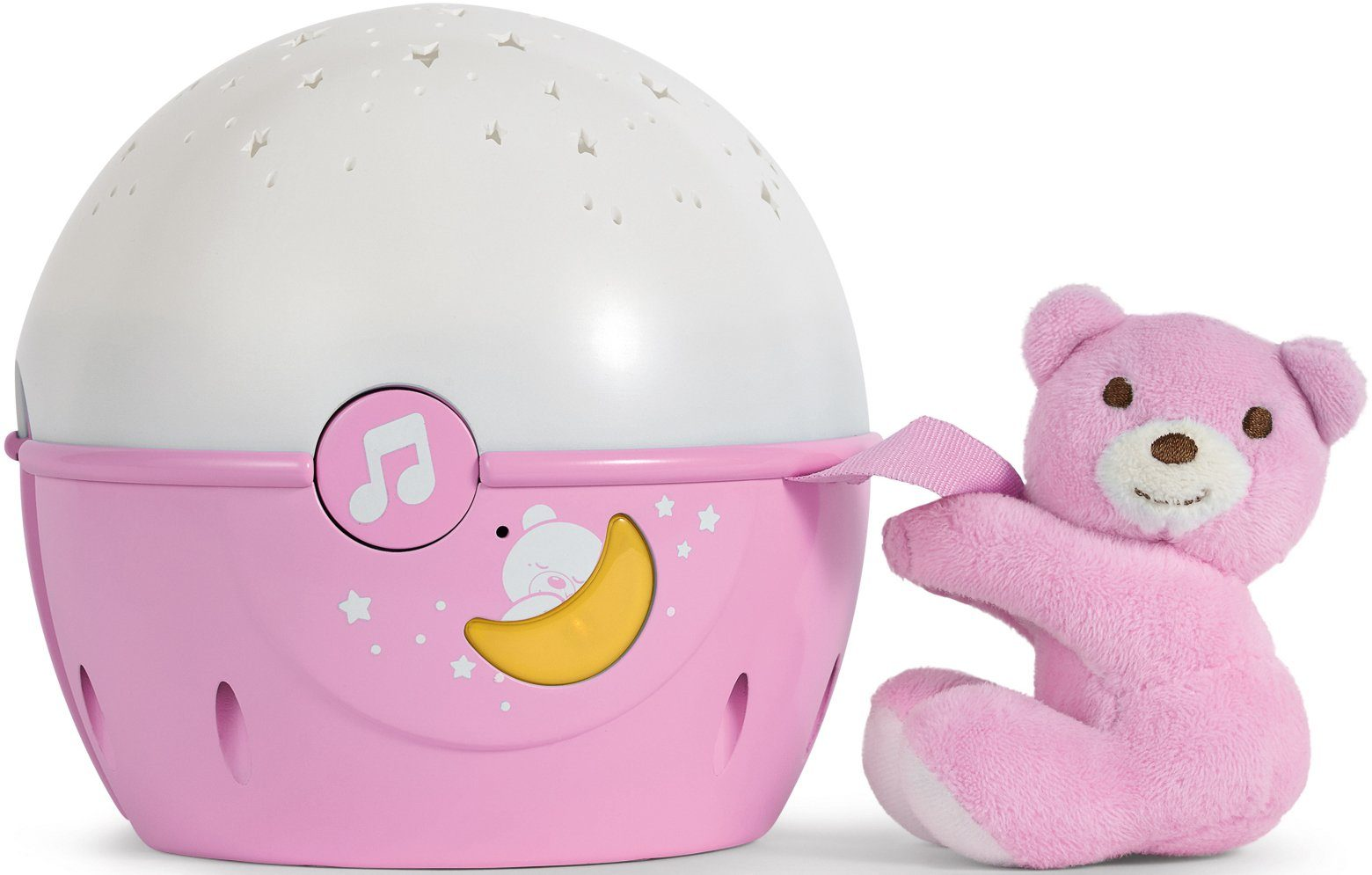 Chicco® 2in1 Projektor mit Soundfunktion, »First Dreams Next 2 Stars Nachtlicht, Rosa«