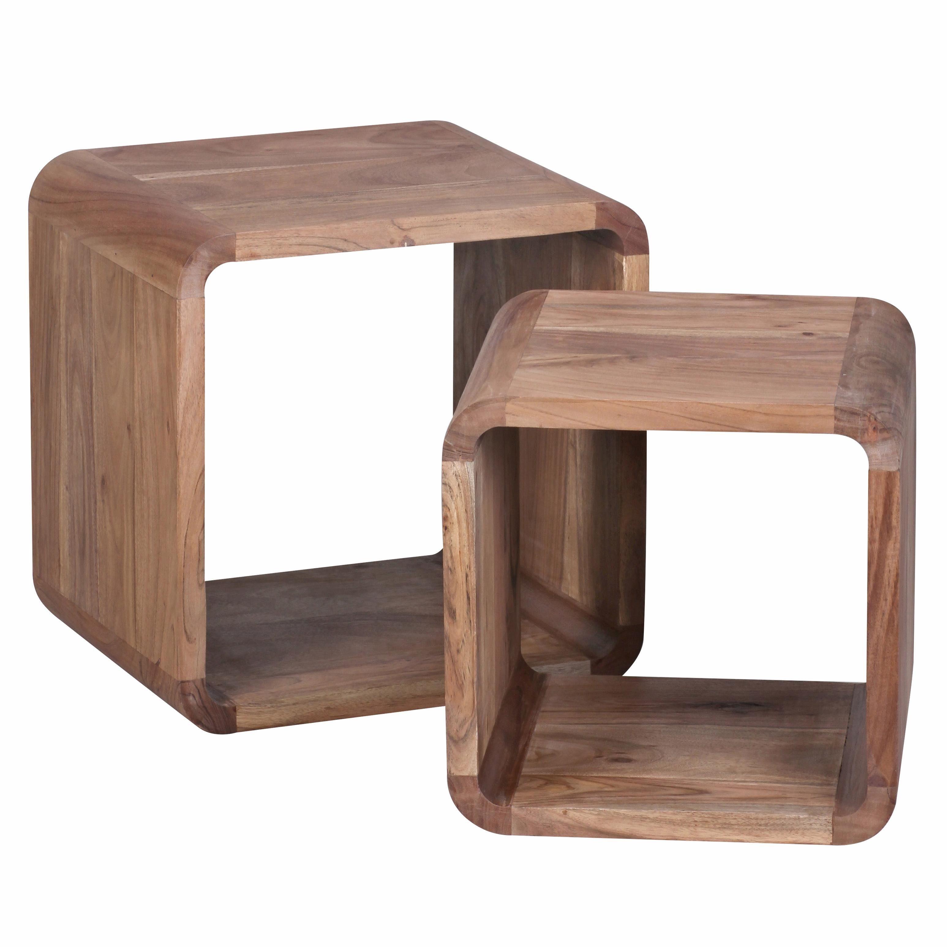Home affaire Beistelltisch (2er-Set) »Cube«