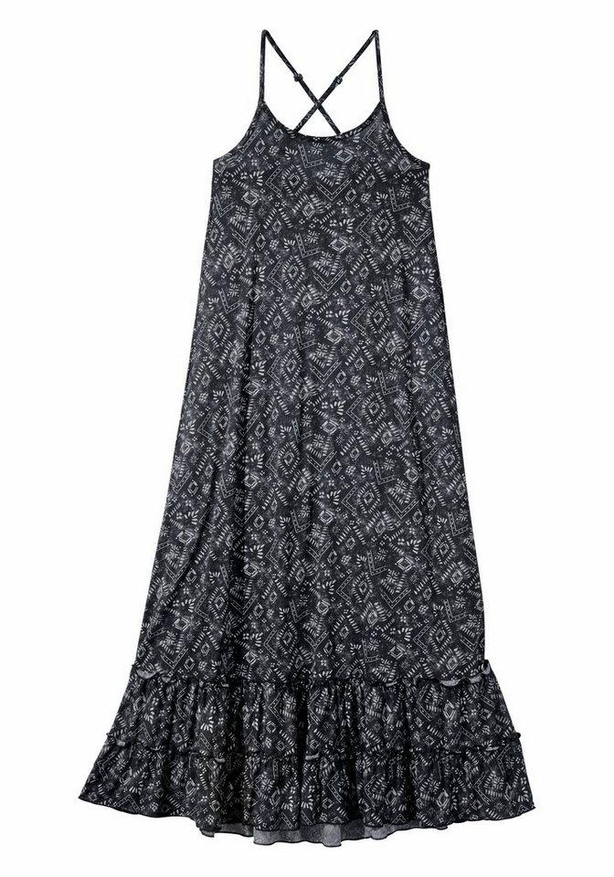 Arizona Maxikleid in schwarz-bedruckt
