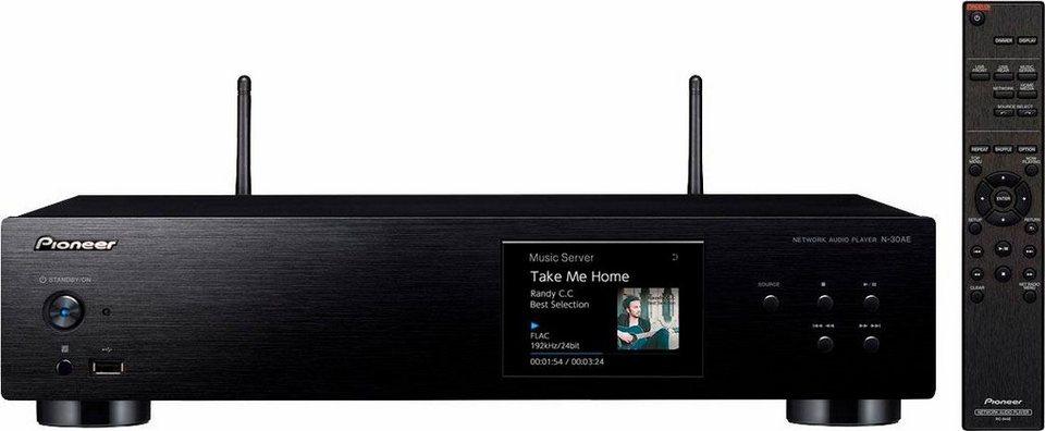 pioneer audio n 30ae 2 kanal netzwerkplayer hi res spotify deezer airplay wlan multiroom. Black Bedroom Furniture Sets. Home Design Ideas