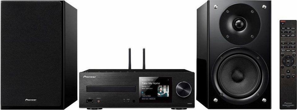Pioneer X-HM86D Microanlage, Hi-Res, Deezer/Spotify, Airplay, Bluetooth, WLAN, Digitalradio (DAB+) in schwarz
