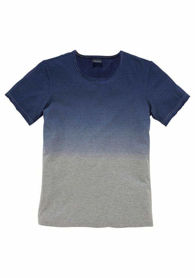 Arizona T-Shirt In Dip-Dye-Effekt in marine
