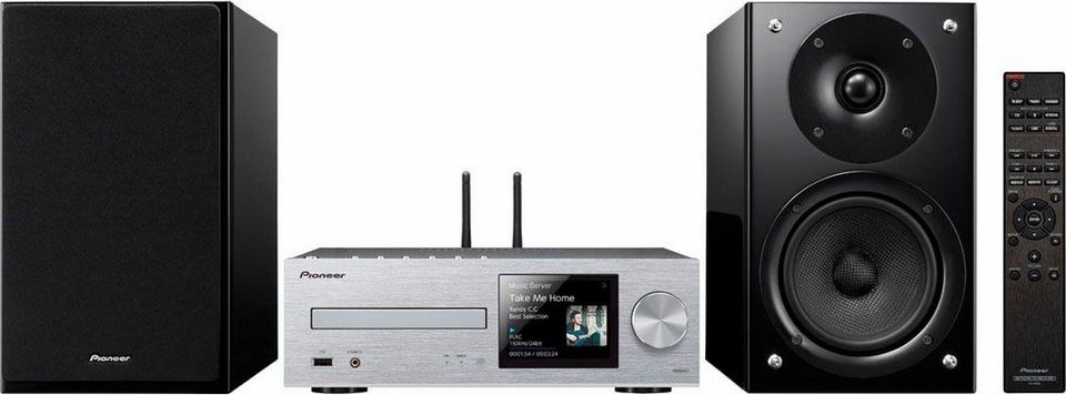 Pioneer X-HM86D Microanlage, Hi-Res, Deezer/Spotify, Airplay, Bluetooth, WLAN, Digitalradio (DAB+) in silberfarben