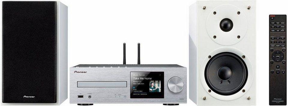 Pioneer X-HM76 Microanlage, Hi-Res, Deezer/Spotify, Airplay, Bluetooth, WLAN, Digitalradio (DAB+) in silver